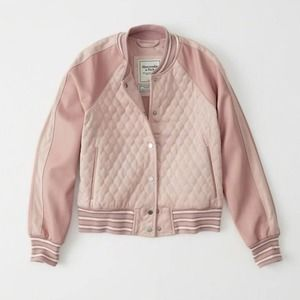 Abercrombie & Fitch Faux Leather Bomber Jacket